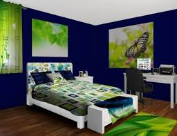 Bedroom Blue And Green Navy And Lime Green Spritz Bedroom At Http Www Visionbedding Com