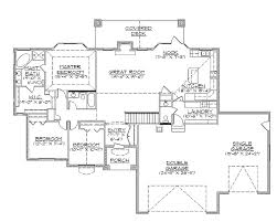 ranch style floor plans with walkout basement rambler house plans with walkout basement home decor