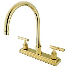 Polished Brass Kitchen Faucet 3 Hole Kitchen Faucets Get A Three Hole Kitchen Sink Faucet
