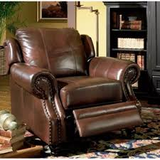 Lazy Boy Sofas Leather Tri Tone Lazy Boy Style Recliner Chair In Brown Top Grain