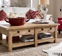 Pottery Barn Griffin Coffee Table Benchwright Rectangular Coffee Table Seadrift Pottery Barn