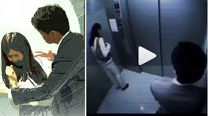 wanita cantik tiba tiba terangsang di dalam lift pria ini jadi