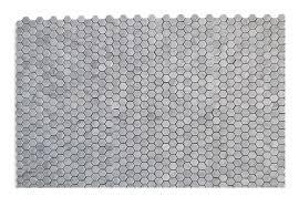 White Carrera Marble Bathroom - bianco white carrara marble 1 u201d hexagon honed mosaic tile
