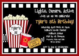 movie birthday party invitation template free different neabux com