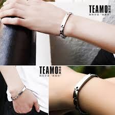 titanium steel bracelet images Teamo his and hers bracelets personalized id name tag bracelet jpg