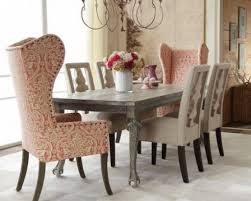 dining room sets with fabric chairs casual dining room table