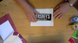 wrap a 1 66oz hershey candy bar with a personalized wrapper youtube