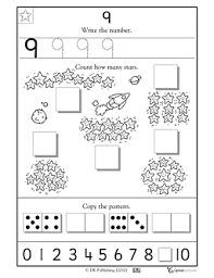 kindergarten preschool math worksheets learning 9 worksheets