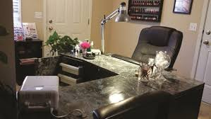 manicure table with vent show us your manicure tables style nails magazine