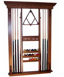 Amish Home Decor Deluxe Pool Table Accessories Wall Rack Amish Direct Furniture