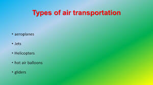types of air transportation ppt video online download
