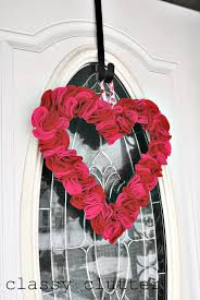 valentines day wreath and easy felt s day wreath clutter
