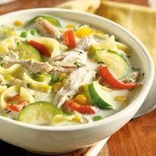 creamy farmhouse chicken and garden soup recipe sparkrecipes
