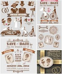 wedding invitations vector vintage style wedding invitations vector free vectorpicfree