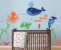 ocean themed kids room paint idea get vinyl fish designs from