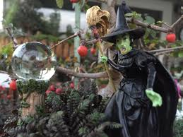miniature fairy garden wizard of oz in the forest are the
