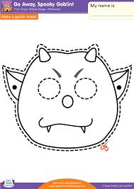 go away spooky goblin worksheet u2013 make a mask super simple
