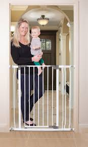 Child Proof Gates For Stairs Dreambaby Liberty Tall Auto Close Security Gate With 3 5