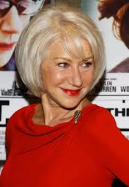 layered wedge haircut for women shiny blond layered bob for women over 60 helen mirren