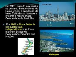 Popular Austrália e Nova Zelândia localizam-se na Oceania ou Novíssimo  &GV16