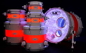 Drum Set Lights Sergio Carreno Sjc Custom Drums Set White Satin Stain With