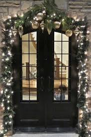 outdoor christmas garland with lights christmas front door decorations christmas decorations and ideas
