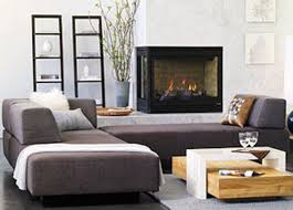 furniture living room with grey upholstered backless sofa plus