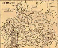 germania map map of germania ancient germany by cornelius tacitus 100 a d