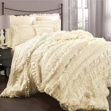 amazon com lush decor belle 4 piece comforter set king ivory