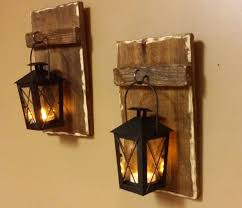 rustic wood lantern home decor candle holders 10 x
