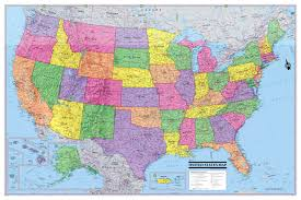 United States Map Wall Art by World Of The Dinosaurs Wall Map Poster 36x24