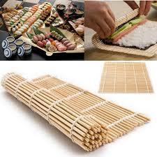 cuisine roller bamboo material mat japanese rice roller kitchen diy gadget sushi