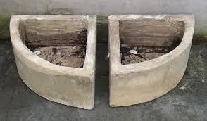 Faux Stone Planters by A Pair Of Faux Stone Quadrant Shaped Planters 40 By 40 By 40cm