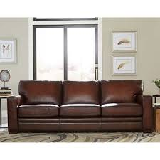 Beige Leather Sofas by Toscano Top Grain Leather Sofa