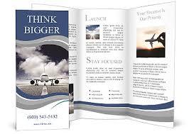 island brochure template plane on the runway brochure template design id 0000009055