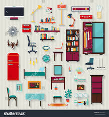 elements of home design set vector rooms elements house illustration stock vector