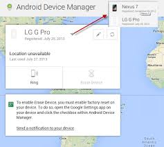 android device manager location unavailable how to enable disable erase device option on android phone tablet