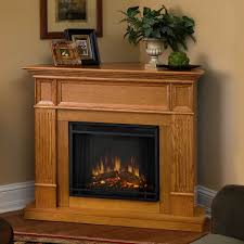 corner electric fireplace tv stand oak part 45 furniture