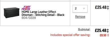 Leather Effect Ottoman Large Leather Effect Ottoman Black Brown 16 99 Or 2 For 25 58