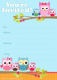 Make Birthday Invitation Cards Online For Free Printable Free Printable Owl Invitations From Printablepartyinvitations