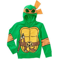 Michelangelo Ninja Turtle Halloween Costume Teenage Mutant Ninja Turtles Michelangelo Boys Costume Hoodie
