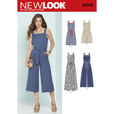 jumpsuit stitching pattern misses jumpsuits and dresses new look sewing pattern 6446 sew