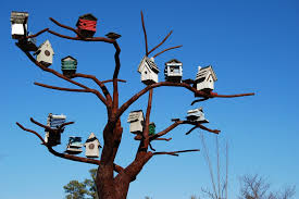 free photo bird houses steel tree sculpture free image on