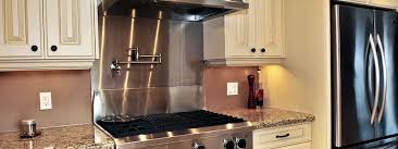 kitchens with stainless steel backsplash cool custom stainless steel backsplash contemporary kitchen 11628