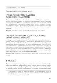 hybrid neuro fuzzy classifier based on nefclass model pdf