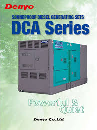 denyo series dca electric generator electric power