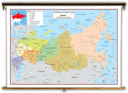 Maps Asia russia political educational wall map from academia maps