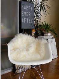 Fuzzy White Chair Flooring Comfy Faux Sheepskin Rug For Floor Decor Ideas