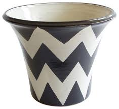 zigzag planter contemporary outdoor pots and planters by