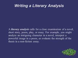 Examples Of Literary Criticism Essays Writing A Literary Analysis Personal Response You Explore Your